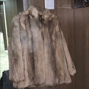 Jackets & Blazers - Authentic Chinese Coyote Fur Coat